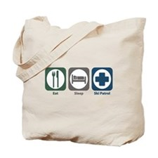Eat Sleep Ski Patrol Tote Bag