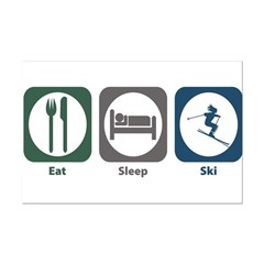 Eat Sleep Ski Posters
