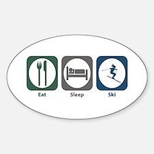 Eat Sleep Ski Oval Bumper Stickers