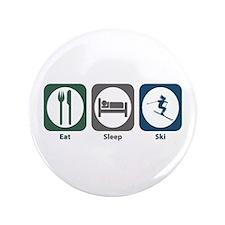 "Eat Sleep Ski 3.5"" Button (100 pack)"