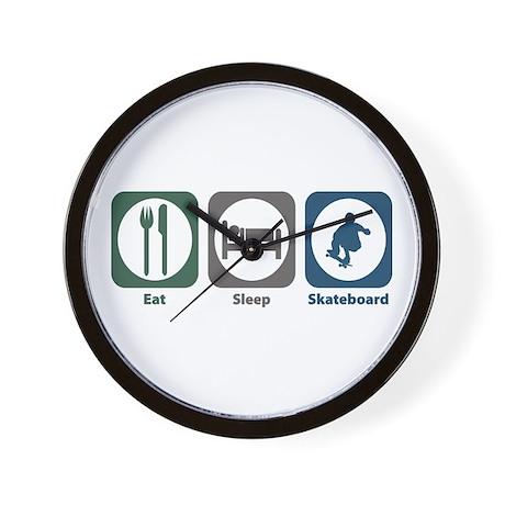 Eat Sleep Skateboard Wall Clock