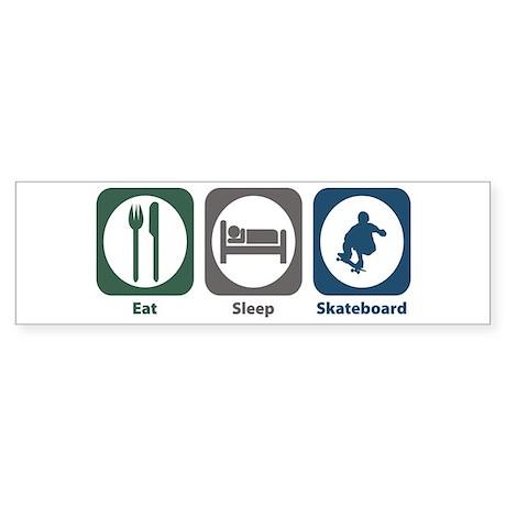 Eat Sleep Skateboard Bumper Sticker