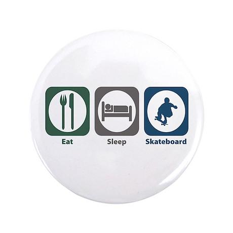 "Eat Sleep Skateboard 3.5"" Button"