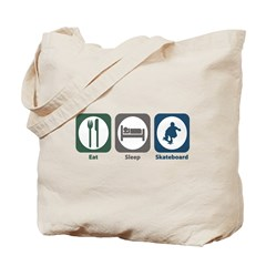 Eat Sleep Skateboard Tote Bag