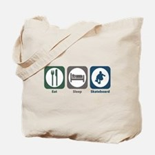 Eat Sleep Skateboard Tote Bag