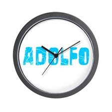 Adolfo Faded (Blue) Wall Clock
