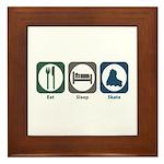 Eat Sleep Skate Framed Tile