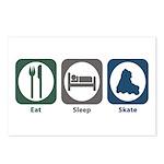 Eat Sleep Skate Postcards (Package of 8)