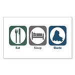 Eat Sleep Skate Rectangle Sticker 50 pk)