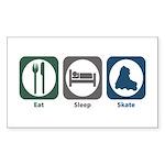 Eat Sleep Skate Rectangle Sticker