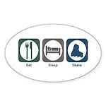 Eat Sleep Skate Oval Sticker (10 pk)