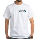 Eat Sleep Skate White T-Shirt
