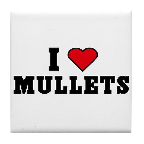 I Love Mullets Tile Coaster