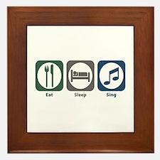 Eat Sleep Sing Framed Tile