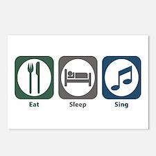 Eat Sleep Sing Postcards (Package of 8)