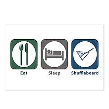 Eat Sleep Shuffleboard Postcards (Package of 8)