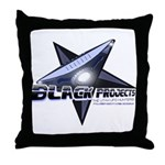 Black Projects Gear Throw Pillow