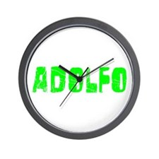 Adolfo Faded (Green) Wall Clock