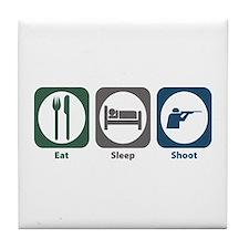 Eat Sleep Shoot Tile Coaster