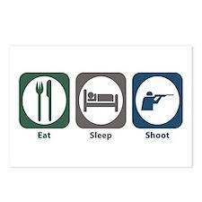 Eat Sleep Shoot Postcards (Package of 8)