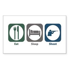 Eat Sleep Shoot Rectangle Decal