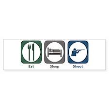 Eat Sleep Shoot Bumper Car Sticker