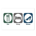 Eat Sleep Shoes Postcards (Package of 8)
