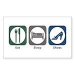 Eat Sleep Shoes Rectangle Sticker