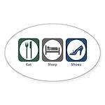 Eat Sleep Shoes Oval Sticker (10 pk)