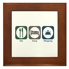 Eat Sleep Shipping Framed Tile