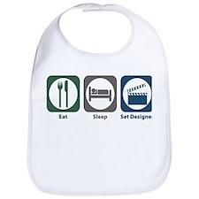 Eat Sleep Set Designer Bib
