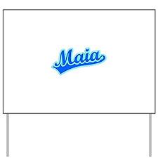 Retro Maia (Blue) Yard Sign