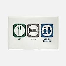 Eat Sleep Senior Citizens Rectangle Magnet