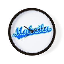 Retro Makaila (Blue) Wall Clock