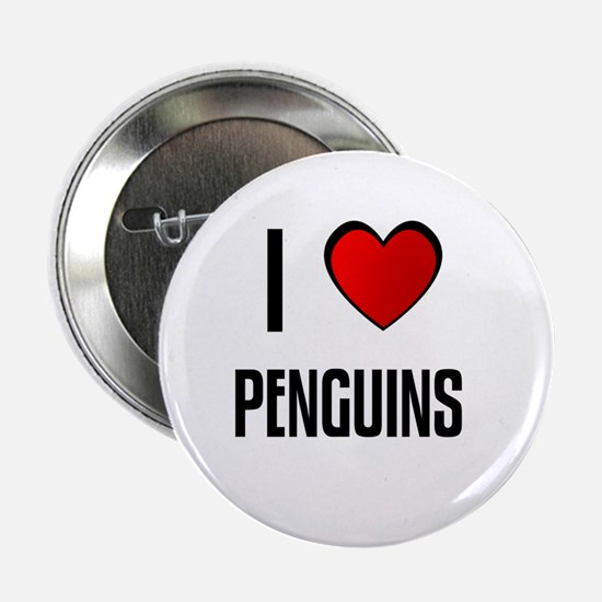 I LOVE PENGUINS Button