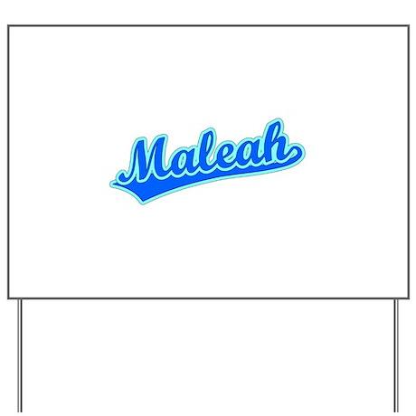 Retro Maleah (Blue) Yard Sign