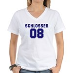 Schlosser 08 Women's V-Neck T-Shirt