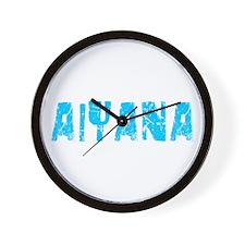 Aiyana Faded (Blue) Wall Clock