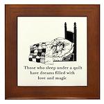 Sleep Under Quilt - Dreams an Framed Tile
