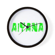 Aiyana Faded (Green) Wall Clock
