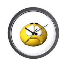 Goofy Sad Face Wall Clock