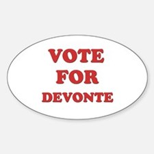 Vote for DEVONTE Oval Decal