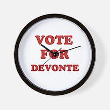 Vote for DEVONTE Wall Clock