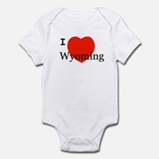 I Love Wyoming Infant Creeper