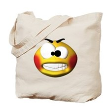 Goofy Manic Face Tote Bag