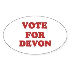 Vote for DEVON Oval Decal