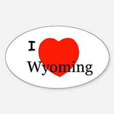 I Love Wyoming Oval Decal