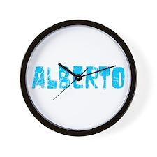 Alberto Faded (Blue) Wall Clock