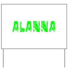Alanna Faded (Green) Yard Sign