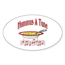 Hummus A Tune Oval Decal